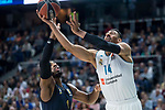 Real Madrid Gustavo Ayon and Fenerbahce Dogus Jason Thompson during Turkish Airlines Euroleague match between Real Madrid and Fenerbahce Dogus at Wizink Center in Madrid , Spain. March 02, 2018. (ALTERPHOTOS/Borja B.Hojas)