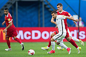17th June 2017, St Petersburg, Russia; FIFA 2017 Confederations Cup football, Russia versus New Zealand; Group A - Saint Petersburg Stadium,  Russia's Viktor Vasin (r) and New Zealand's Kosta Barbarouses vie for the ball during the Confederations Cup Group A soccer match between Russia and New Zealand at the stadium in Saint Petersburg, Russia, 17 June 2017.