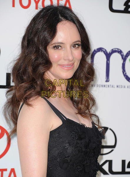 Madeleine Stowe.attends The 21st Annual Environmental Media Awards held at at Warner Bros. Studios in Burbank, California, USA, October 15th 2011..portrait headshot black side  lace .CAP/RKE/DVS.©DVS/RockinExposures/Capital Pictures.