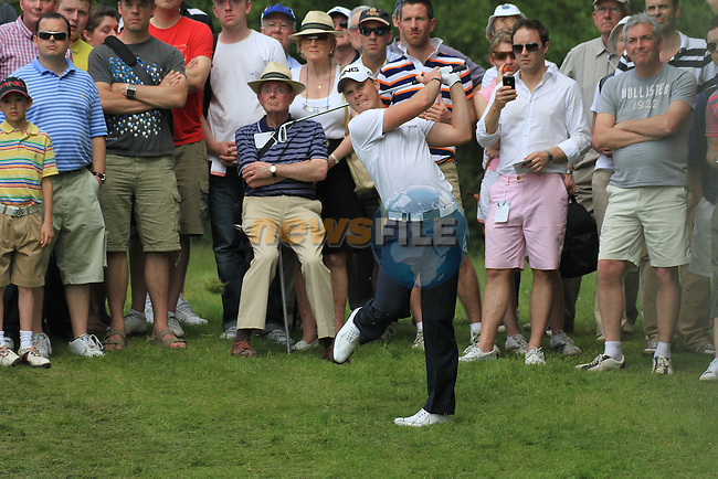 Danny Willett playing his second shot on the 7th Hole.during round two of the BMW PGA championship 2010 at Wentworth golf club, Surrey England..Picture Fran Caffrey/Newsfile.ie
