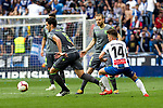 Real Sociedad's Mikel Merino, Sandro Ramirez and RCD Espanyol's Oscar Melendo during La Liga match. May, 18th,2019. (ALTERPHOTOS/Alconada)