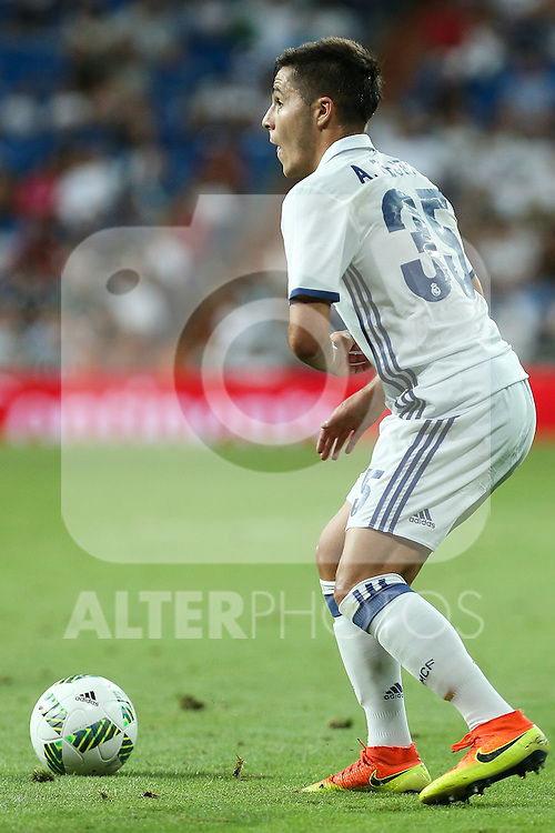 Real Madrid's Tejero during the XXXVII Bernabeu trophy between Real Madrid and Stade de Reims at the Santiago Bernabeu Stadium. August 15, 2016. (ALTERPHOTOS/Rodrigo Jimenez)