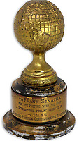 BNPS.co.uk (01202 558833)<br /> Pic: NateDSanders/BNPS<br /> <br /> Frank Sinatra's first Golden Globe has emerged for sale for £38,000. ($50,000)<br /> <br /> The legendary crooner received the award in 1946 for his role in the short film 'The House I Live In' which railed against anti-semitism.<br /> <br /> In it, 'ol blue eyes' convinces a group of young American boys bullying a Jewish boy to stop.<br /> <br /> Sinatra gave the award to a friend from California and it has remained in his estate until now. It is being sold by his descendants with US auction house Nate D Sanders.<br /> <br /> The auctioneer says it is the only major award won by Sinatra which has emerged on the private market, adding to its significance. This is because the Sinatra Estate still owns most of his awards and are fiercely protective of his legacy.