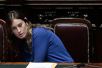 Elena Boschi<br /> Roma 25-02-2014 Camera. Voto di fiducia al nuovo Governo.<br /> Senate. Trust vote for the new Government.<br /> Photo Samantha Zucchi Insidefoto