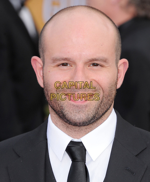 Anatol Yusef.Arrivals at the 19th Annual Screen Actors Guild Awards at the Shrine Auditorium in Los Angeles, California, USA..27th January 2013.SAG SAGs headshot portrait black white shirt tie suit stubble facial hair .CAP/DVS.©DVS/Capital Pictures.