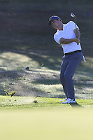 Keith Mitchell (USA) chips into the 1st green during Thursday's Round 1 of the 2018 AT&amp;T Pebble Beach Pro-Am, held over 3 courses Pebble Beach, Spyglass Hill and Monterey, California, USA. 8th February 2018.<br /> Picture: Eoin Clarke | Golffile<br /> <br /> <br /> All photos usage must carry mandatory copyright credit (&copy; Golffile | Eoin Clarke)