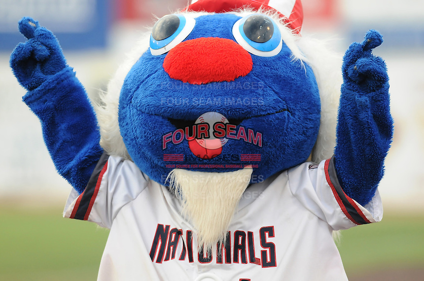 July 17, 2009: Mascot Uncle Slam of the Potomac Nationals works the crowd at G. Richard Pfitzner Stadium in Woodbridge, Va. Photo by: Tom Priddy/Four Seam Images