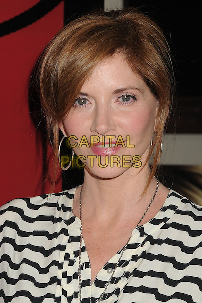 Melinda McGraw.WIGS Channel One Year Anniversary held at Akasha, Culver City, California, USA, 2nd May 2013..portrait headshot  black and white striped shirt print hoop earrings .CAP/ADM/BP.©Byron Purvis/AdMedia/Capital Pictures