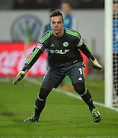 FUSSBALL   1. BUNDESLIGA   SAISON 2012/2013    22. SPIELTAG VfL Wolfsburg - FC Bayern Muenchen                       15.02.2013 Torwart Diego Benaglio (VfL Wolfsburg)