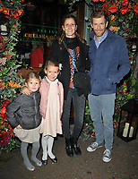 Justine Dobbs-Higginson and Tom Aikens and kids at the Ivy Chelsea Garden's Guy Fawkes party, The Ivy Chelsea Garden, King's Road, London, England, UK, on Sunday 04 November 2018.<br /> CAP/CAN<br /> &copy;CAN/Capital Pictures