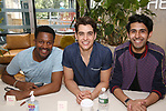 Rick Younger, Kyle Selig and Cheech Manohar attend the 'Mean Girls' Original Broadway Cast Linyl Release at the Herald Square Urban Outfitters' on August 28, 2018 in New York City.