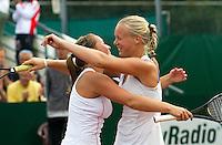 22-08-10, Tennis, Amstelveen, NTK, Nationale Tennis Kampioenschappen,   Bertens and Thyssen wi nning