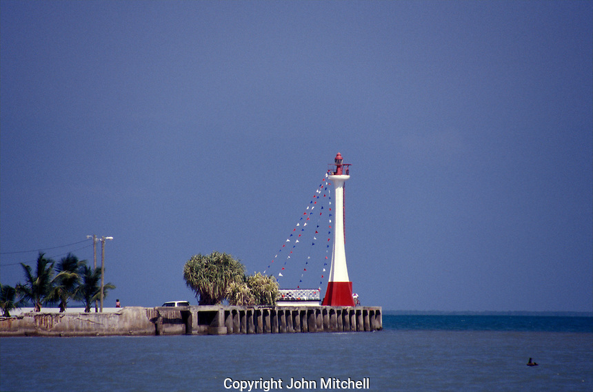 Baron Bliss Lighthouse in Fort George, Belize City, Belize