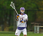 Justin Reh (#11) orchestrates the Albany attack as UAlbany Men's Lacrosse defeats Richmond 18-9 on May 12 at Casey Stadium in the NCAA tournament first round.