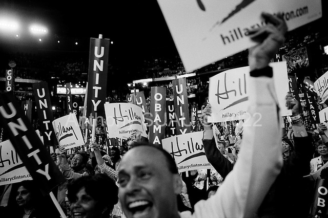 Denver, Colorado.August 26, 2008..Senator Hillary Clitnon speaks at the Pepsi Center  - Democratic National Convention.