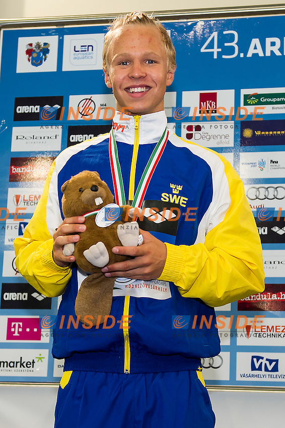 Johansson Victor SWE<br /> 400 Freestyle Men Final Silver Medal<br /> LEN 43rd Arena European Junior Swimming Championships<br /> Hodmezovasarhely, Hungary <br /> Day01 06-07-2016<br /> Photo Andrea Masini/Deepbluemedia/Insidefoto