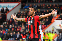 Callum Wilson of AFC Bournemouth appeals for a penalty  during AFC Bournemouth vs Stoke City, Premier League Football at the Vitality Stadium on 3rd February 2018