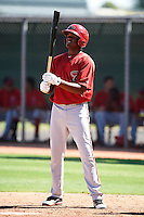 Arizona Diamondbacks minor league outfielder Socrates Brito #19 during an instructional league game against the Los Angeles Angels at the Tempe Diablo Minor League Complex on October 1, 2012 in Tempe, Arizona.  (Mike Janes/Four Seam Images)