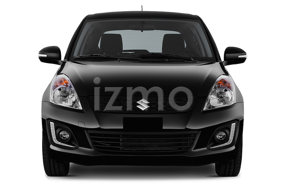 Car photography straight front view of a2013 Suzuki SWIFT Grand Luxe @ttraction 5 Door Hatchback 2WD Front View