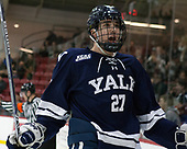Luke Stevens (Yale - 27) - The Harvard University Crimson defeated the Yale University Bulldogs 6-4 in the opening game of their ECAC quarterfinal series on Friday, March 10, 2017, at Bright-Landry Hockey Center in Boston, Massachusetts.