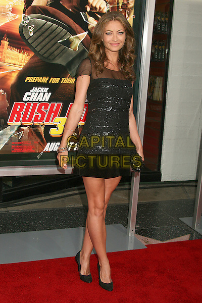 "REBECCA GAYHEART .""Rush Hour 3"" Los Angeles Premiere at Grauman's Chinese Theatre, Hollywood, California, USA..July 30th, 2007.full length black dress sheer.CAP/ADM/BP.©Byron Purvis/AdMedia/Capital Pictures"