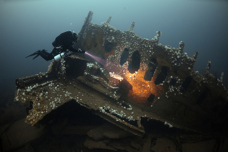 RMS Justicia: White Star liner of some 33000 tons sunk in WW1. Now lies at 72 metres depth
