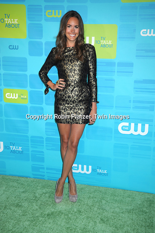 "Louise Roe of "" Plain Jane""  posing for photographers at the CW Network 2010 Upfront on May 20, 2010 at Madison Square Garden in New York City."