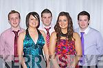 Padraig O'Connor, Sinead Long, Patrick Riordan, Danielle Broe and Sean O'Connor enjoying the  Gneeveguilla GAA club 50th anniversary banquet in the Malton Hotel Killarney on Saturday night..