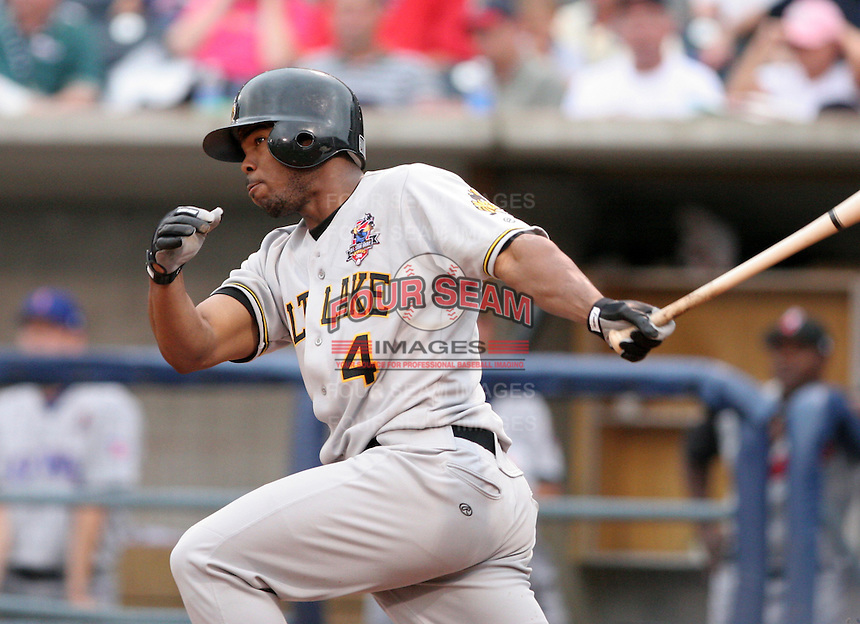 Salt Lake Bees Howie Kendrick #4 during the Triple-A All-Star Game at Fifth Third Field on July 12, 2006 in Toledo, Ohio.  (Mike Janes/Four Seam Images)