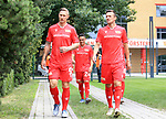 06.07.2019, Stadion an der Wuhlheide, Berlin, GER, 2.FBL, 1.FC UNION BERLIN , Mannschaftsfoto, Portraits, <br /> DFL  regulations prohibit any use of photographs as image sequences and/or quasi-video<br /> im Bild Sebastian Polter (1.FC Union Berlin #9), Christian Gentner (1.FC Union Berlin #62), Manuel Schmiedebach (1.FC Union Berlin #24)<br /> <br /> <br />      <br /> Foto © nordphoto / Engler