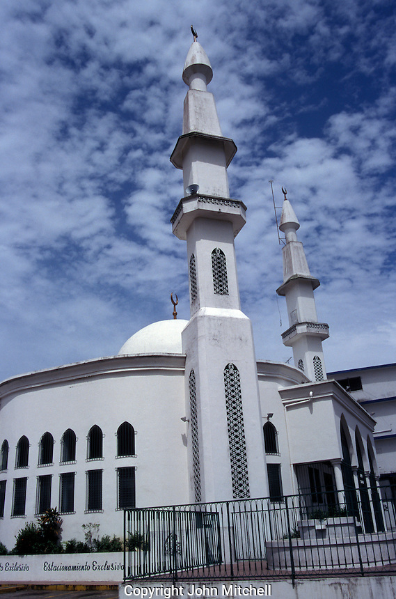 The first Islamic mosque built in Central America, Panama City, Panama