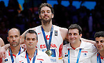 Spain's Pau Gasol after European championship basketball final match between Spain and Lithuania on September 20, 2015 in Lille, France  (credit image & photo: Pedja Milosavljevic / STARSPORT)