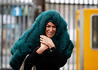 9th February 2020; The Den, London, England; English Championship Football, Millwall versus West Bromwich Albion; Millwall fans walking into The Den stadium during Storm Ciara