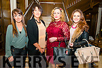 L-R Lisa Thornton, Diana, Stephanie and Shannon Mc Carthy all from Listowel pictured at the Miss Kerry 2016 in the Brehon hotel, Killarney last Saturday night.