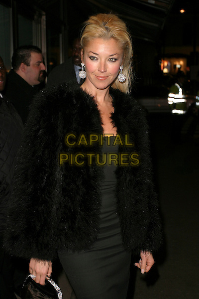 TAMARA BECKWITH.Alexandra Shulman's Pre-BAFTA Dinner, held at Ceccioni's, 5a Burlington Gardens, London, England, .17th February 2006..half length black fur coat jacket.Ref : AH.www.capitalpictures.com.sales@capitalpictures.com.©Adam Houghton/Capital Pictures.