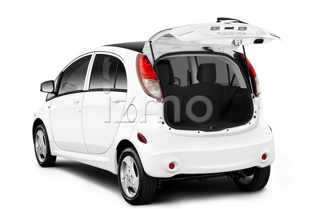 Angular rear view of a 2012 Mitsubishi MiEV SE