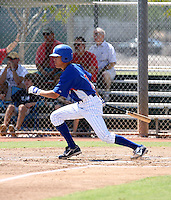 Logan Watkins / AZL Cubs in action against the AZL Brewers at Fitch Park, Mesa, AZ on 7/24/2008..Photo by:  Bill Mitchell/Four Seam Images