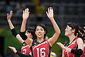 Saori Sakoda, Mai Yamaguchi (JPN),<br /> AUGUST 8, 2016 - Volleyball : <br /> Women's Preliminary Pool A <br /> between Japan 3-0 Cameroon <br /> at Maracanazinho <br /> during the Rio 2016 Olympic Games in Rio de Janeiro, Brazil.<br /> (Photo by Enrico Calderoni/AFLO SPORT)
