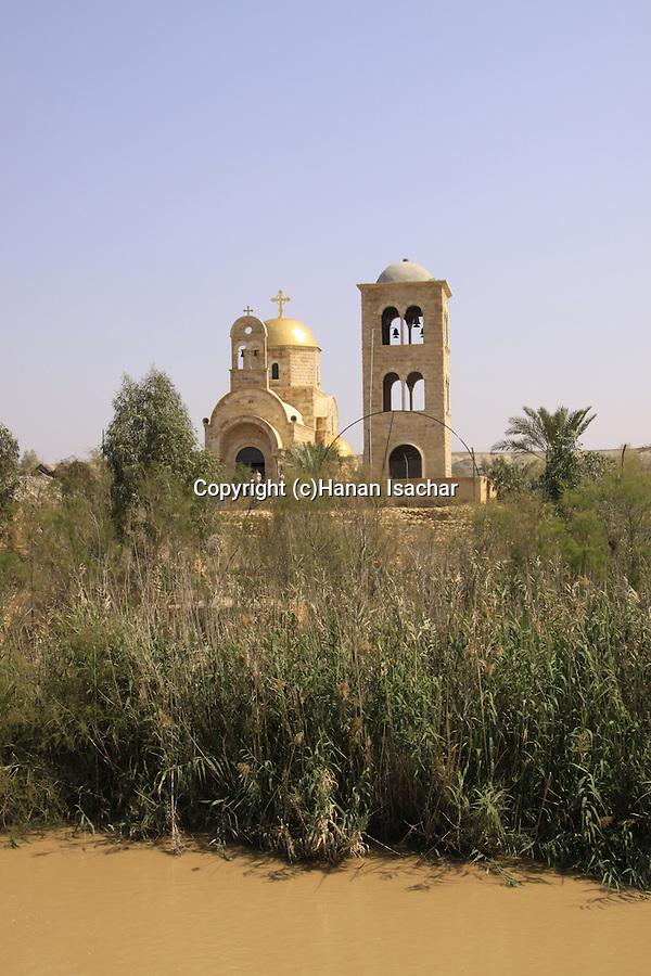 Jordan Valley, Qasr al Yahud, the Church on the Jordanian side of the Jordan river .