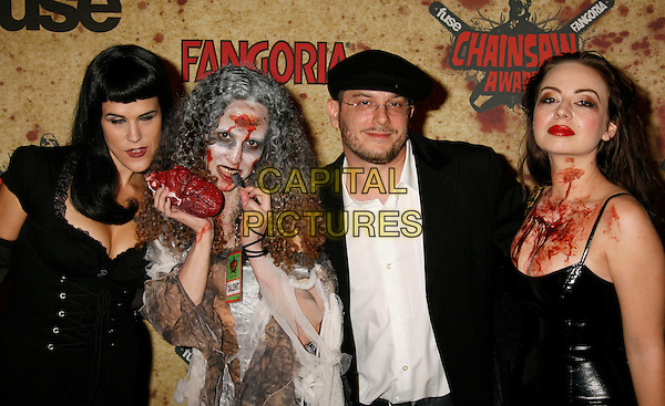 COURTNEY SALANON JESSICA CHISUM CHIEKO ROBENS MAGALY BELTRAN & MARY ANNE SILVA.Fuse Fangoria Chainsaw Awards held at The Orpheum Theatre, Los Angeles, California, USA - Arrivals.October 15th, 2006.Ref: ADM/RE.half length blood make up - make up scary costume.www.capitalpictures.com.sales@capitalpictures.com.©Russ Elliot/AdMedia/Capital Pictures.