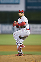 Lakewood BlueClaws relief pitcher Alexis Rivero (11) in action against the Kannapolis Intimidators at CMC-Northeast Stadium on May 16, 2015 in Kannapolis, North Carolina.  The BlueClaws defeated the Intimidators 9-7.  (Brian Westerholt/Four Seam Images)
