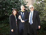 20/1/2015   (with compliments)  Attending the University of limerick conferrings on Monday morning was Finnian Chessar, Mountshannon, Co. Clare conferred with a MSc in Project Management.  Also in the photograph are his parents Mary and Kevin.<br /> Picture Liam Burke/Press 22