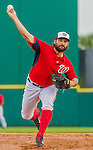 5 March 2015: Washington Nationals pitcher Tanner Roark on the mound during a Spring Training game against the New York Mets at Space Coast Stadium in Viera, Florida. The Nationals rallied to defeat the Mets 5-4 in their Grapefruit League home opening game. Mandatory Credit: Ed Wolfstein Photo *** RAW (NEF) Image File Available ***