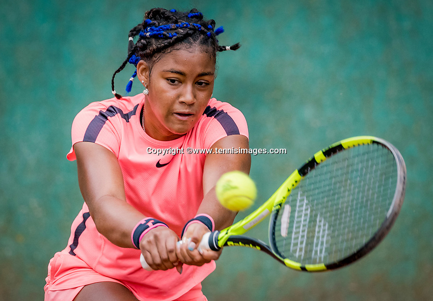 Hilversum, Netherlands, August 8, 2018, National Junior Championships, NJK, Noa Liauw-A-Fong(NED)<br /> Photo: Tennisimages/Henk Koster