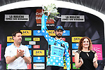 Dario Cataldo (ITA) Astana Pro Team retains the mountains the Polka Dot Jersey at the end of Stage 6 of the 2018 Criterium du Dauphine 2018 running 110km from Frontenex to La Rosiere, France. 9th June 2018.<br /> Picture: ASO/Alex Broadway | Cyclefile<br /> <br /> <br /> All photos usage must carry mandatory copyright credit (&copy; Cyclefile | ASO/Alex Broadway)