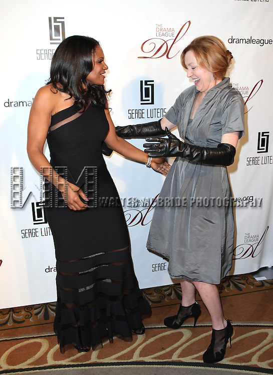 Audra McDonald & Julie White attending the Drama League's 29th Annual Musical Celebration of Broadway Honoring Audra McDonald at the Pierre Hotel in New York City on 2/11/2013