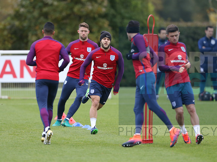 England's Jack Wilshere in action during training at Tottenham Hotspur training centre, London. Picture date November 14th, 2016 Pic David Klein/Sportimage