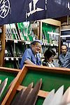 Tokyo, June 25 2013 - Knifes at tsukiji fish market.
