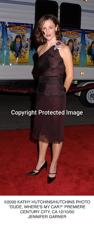 "©2000 KATHY HUTCHINS/HUTCHINS PHOTO.""DUDE, WHERE'S MY CAR?"" PREMIERE.CENTURY CITY, CA 12/10/00.JENNIFER GARNER"