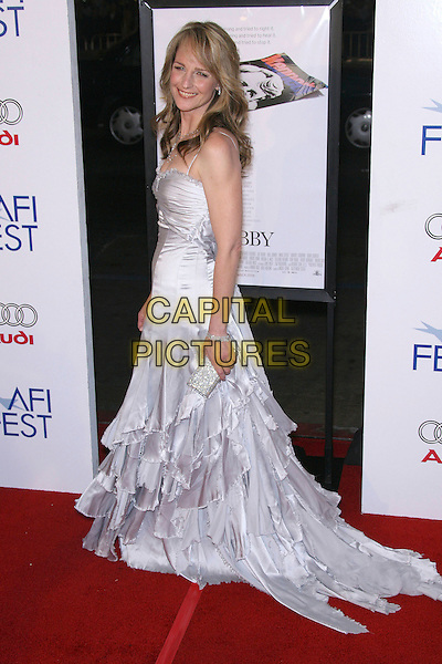 "HELEN HUNT.AFI Fest 2006 Opening Night Gala and US Premiere of ""Bobby"" - Arrivals held at Mann's Chinese Theatre, Hollywood, California, USA,.1st November 2006..full length white stain silk dress long layered ruffles gown train.Ref: ADM/ZL.www.capitalpictures.com.sales@capitalpictures.com.©Zach Lipp/AdMedia/Capital Pictures."